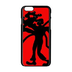 Abstract man Apple iPhone 6/6S Black Enamel Case