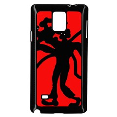Abstract man Samsung Galaxy Note 4 Case (Black)