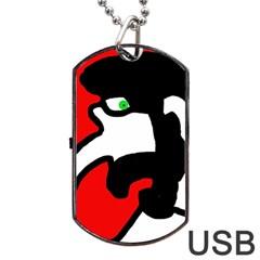 Man Dog Tag USB Flash (One Side)