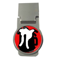 Red, black and white Money Clips (Round)