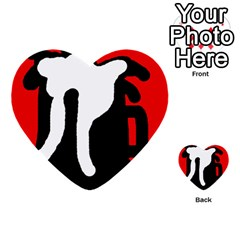 Red, black and white Multi-purpose Cards (Heart)