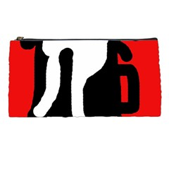 Red, black and white Pencil Cases