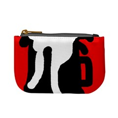 Red, black and white Mini Coin Purses