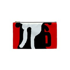 Red, black and white Cosmetic Bag (Small)