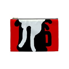 Red, black and white Cosmetic Bag (Medium)