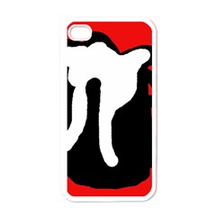 Red, black and white Apple iPhone 4 Case (White)