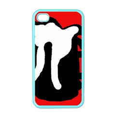Red, black and white Apple iPhone 4 Case (Color)