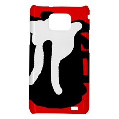 Red, black and white Samsung Galaxy S2 i9100 Hardshell Case