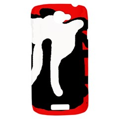 Red, black and white HTC One S Hardshell Case
