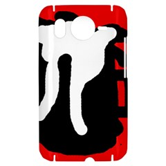Red, black and white HTC Desire HD Hardshell Case