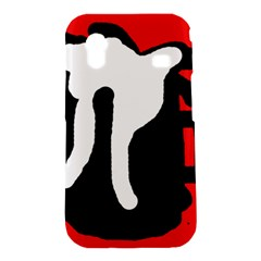 Red, black and white Samsung Galaxy Ace S5830 Hardshell Case