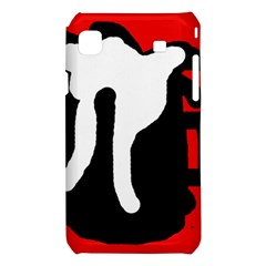 Red, black and white Samsung Galaxy S i9008 Hardshell Case