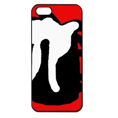Red, black and white Apple iPhone 5 Seamless Case (Black)