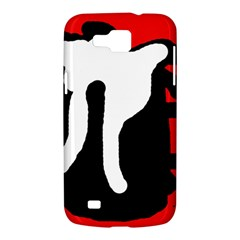Red, black and white Samsung Galaxy Premier I9260 Hardshell Case