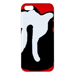 Red, black and white Apple iPhone 5 Premium Hardshell Case