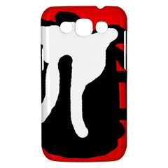 Red, black and white Samsung Galaxy Win I8550 Hardshell Case