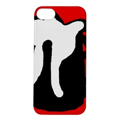 Red, black and white Apple iPhone 5S/ SE Hardshell Case