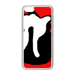 Red, black and white Apple iPhone 5C Seamless Case (White)