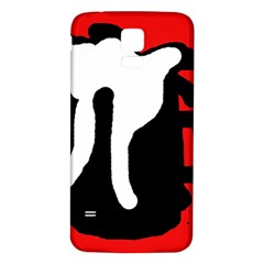 Red, black and white Samsung Galaxy S5 Back Case (White)