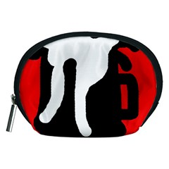 Red, black and white Accessory Pouches (Medium)