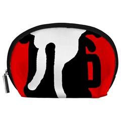 Red, black and white Accessory Pouches (Large)