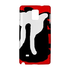 Red, black and white Samsung Galaxy Note 4 Hardshell Case