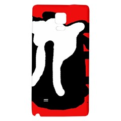 Red, black and white Galaxy Note 4 Back Case