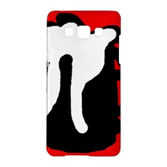 Red, black and white Samsung Galaxy A5 Hardshell Case