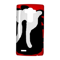 Red, black and white LG G4 Hardshell Case
