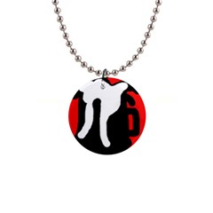 Red, black and white Button Necklaces