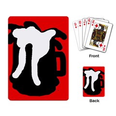 Red, black and white Playing Card