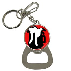 Red, black and white Bottle Opener Key Chains