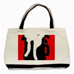Red, black and white Basic Tote Bag