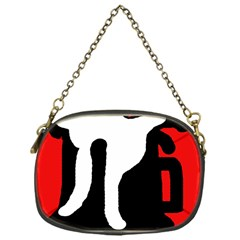 Red, black and white Chain Purses (One Side)