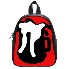 Red, black and white School Bags (Small)