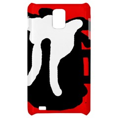Red, black and white Samsung Infuse 4G Hardshell Case