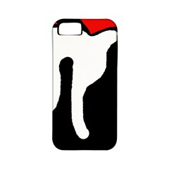 Red, black and white Apple iPhone 5 Classic Hardshell Case (PC+Silicone)