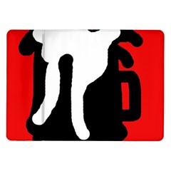 Red, black and white Samsung Galaxy Tab 10.1  P7500 Flip Case