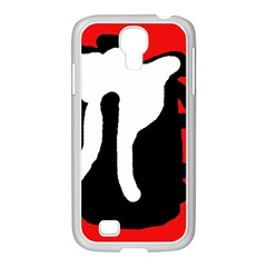 Red, black and white Samsung GALAXY S4 I9500/ I9505 Case (White)