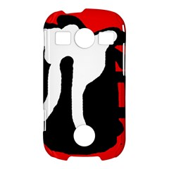 Red, black and white Samsung Galaxy S7710 Xcover 2 Hardshell Case