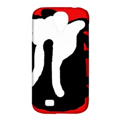 Red, black and white Samsung Galaxy S4 Classic Hardshell Case (PC+Silicone)