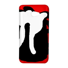 Red, black and white HTC Butterfly S/HTC 9060 Hardshell Case