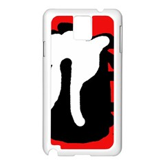 Red, black and white Samsung Galaxy Note 3 N9005 Case (White)