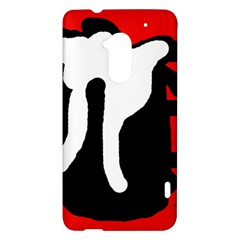 Red, black and white HTC One Max (T6) Hardshell Case