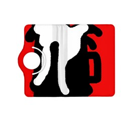 Red, black and white Kindle Fire HD (2013) Flip 360 Case