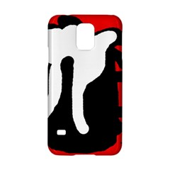 Red, black and white Samsung Galaxy S5 Hardshell Case