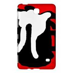 Red, black and white Samsung Galaxy Tab 4 (8 ) Hardshell Case