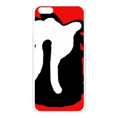 Red, black and white Apple Seamless iPhone 6 Plus/6S Plus Case (Transparent)