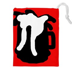 Red, black and white Drawstring Pouches (XXL)