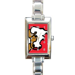 Artistic cow Rectangle Italian Charm Watch